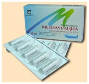 Метилурацил №10 свечи цена, инструкция, применение   купить.